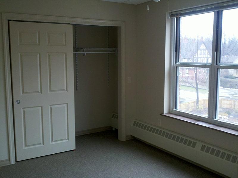 Margaret Wagner Apartments bedroom closet