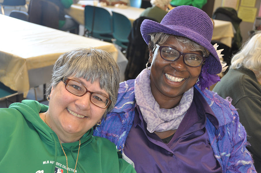 Two Rose Centers participants smiling